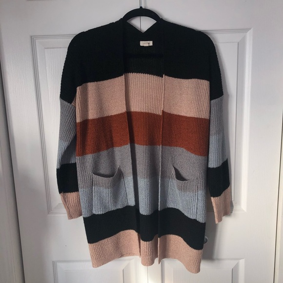 2 for $20~ Neutral striped Cardigan